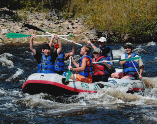photo of Boy Scouts rafting trip
