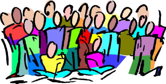 clipart of group singing
